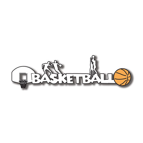 Scrapbook Customs Laser Cut Title: Basketball B