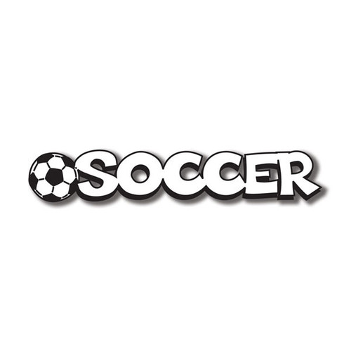 Scrapbook Customs Laser Cut Title: Soccer C