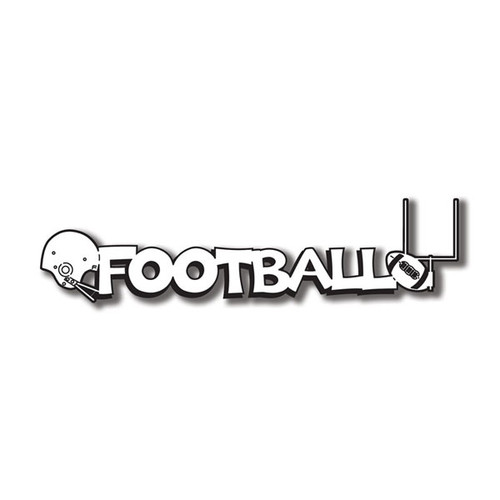 Scrapbook Customs Laser Cut Title: Football C