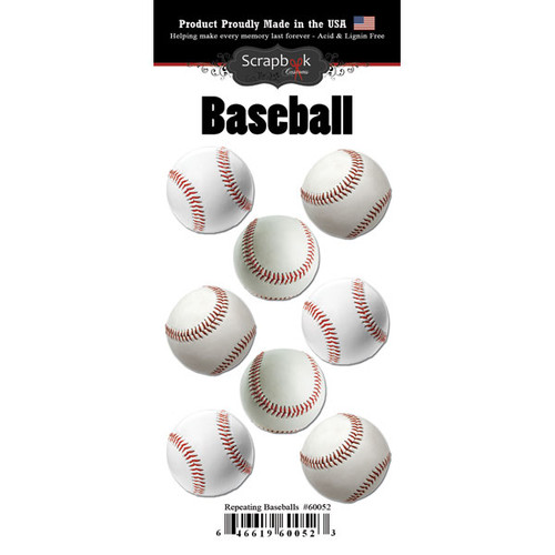 Scrapbook Customs Repeating Stickers: Baseball