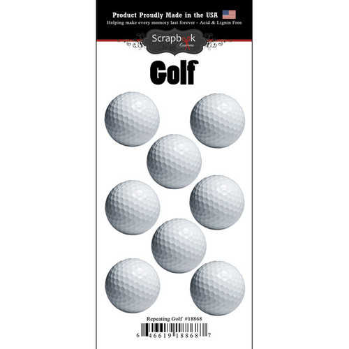 Scrapbook Customs Repeating Stickers: Golf