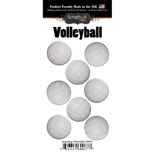 Scrapbook Customs Repeating Stickers: Volleyball