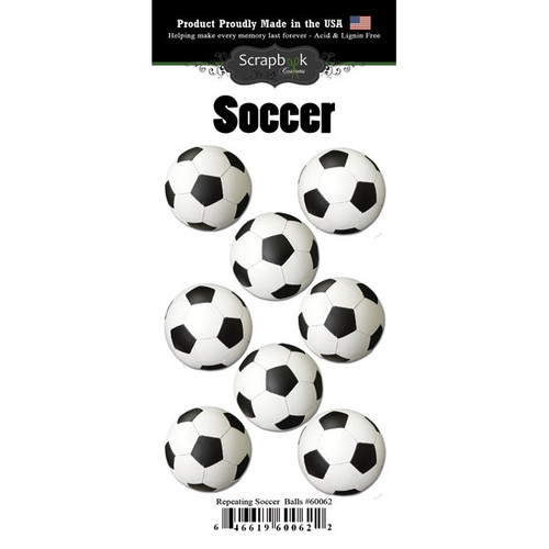 Scrapbook Customs Repeating Stickers: Soccer