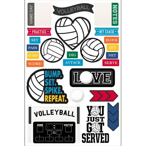 Scrapbook Customs Laser Diecut Pack: Volleyball
