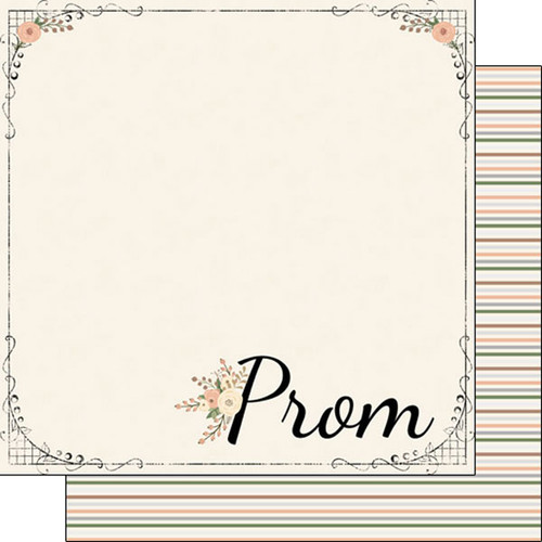Scrapbook Customs 12x12 School Themed Paper: Perfect Prom