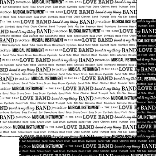 Scrapbook Customs 12x12 School Themed Paper: Band Pride