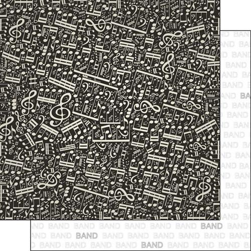 Scrapbook Customs 12x12 School Themed Paper: Band Addict