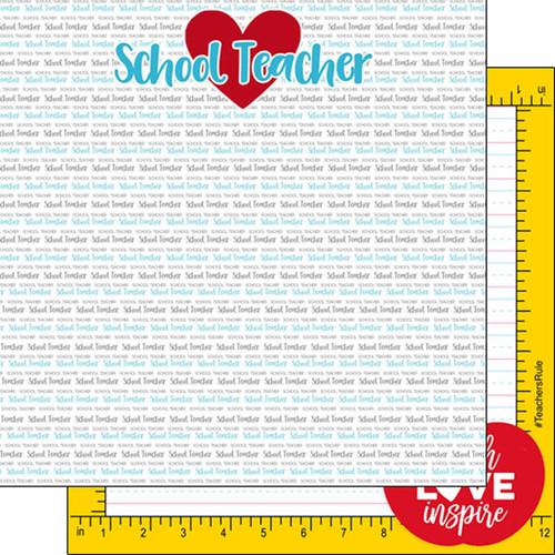Scrapbook Customs 12x12 School Themed Paper: Teacher Pride