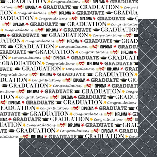 Scrapbook Customs Graduation 12x12 Paper: Grad Pride