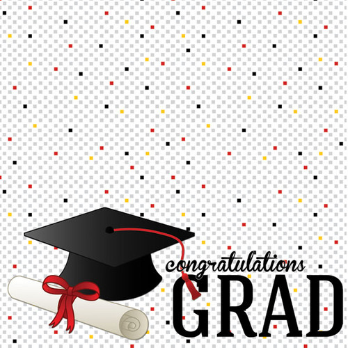 Scrapbook Customs 12x12 Graduation Themed Paper: Confetti