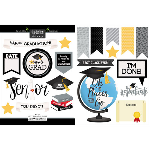 Scrapbook Customs Sticker: Happy Graduation