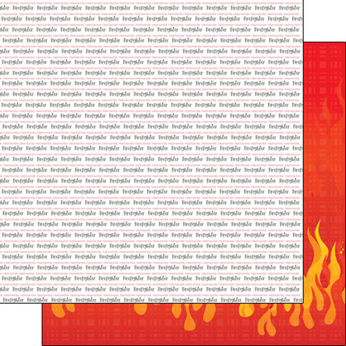 Scrapbook Customs 12x12 Paper: Firefighter Pride