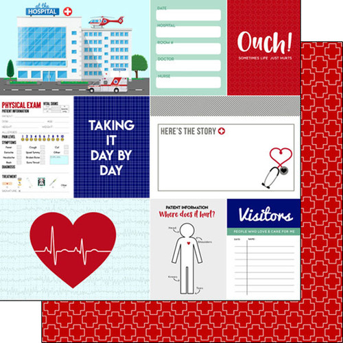 Scrapbook Customs 12x12 Medical Themed Paper: Patient Journal