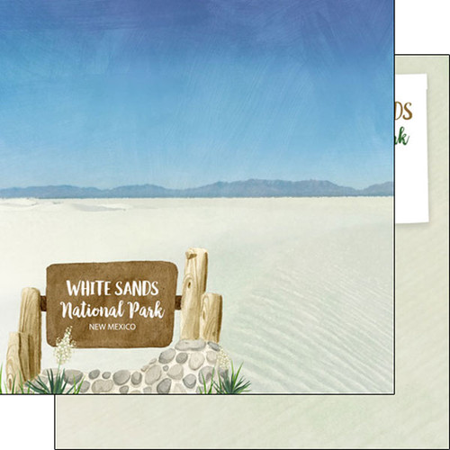 Scrapbook Customs Watercolor 12x12 Paper: White Sands National Park