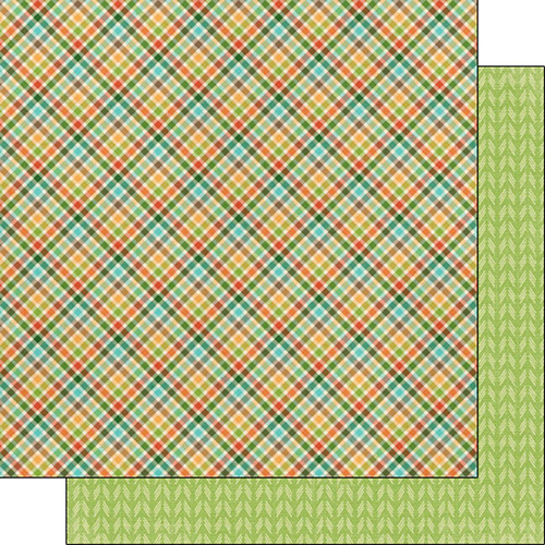 Scrapbook Customs Outdoor Adventure 12x12 Paper: Plaid