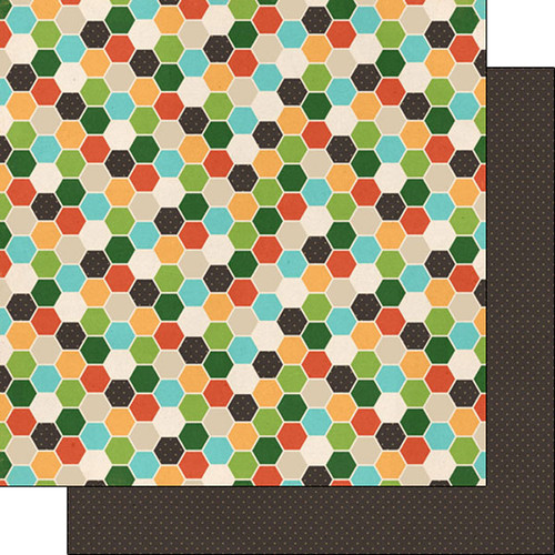 Scrapbook Customs 12x12 Outdoor Themed Paper: Adventure - Honeycomb