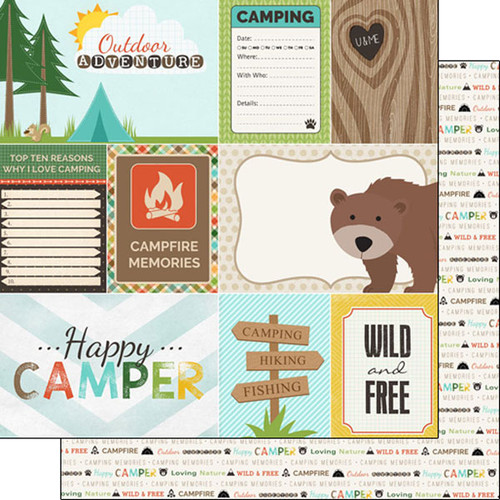 Scrapbook Customs 12x12 Outdoor Themed Paper: Adventure - Journal
