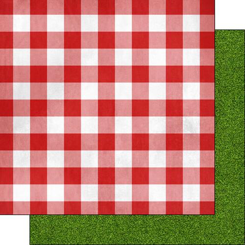 Scrapbook Customs 12x12 Paper: Picnic Table Cloth