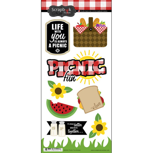 Scrapbook Customs 6x12 Sticker: Picnic Fun