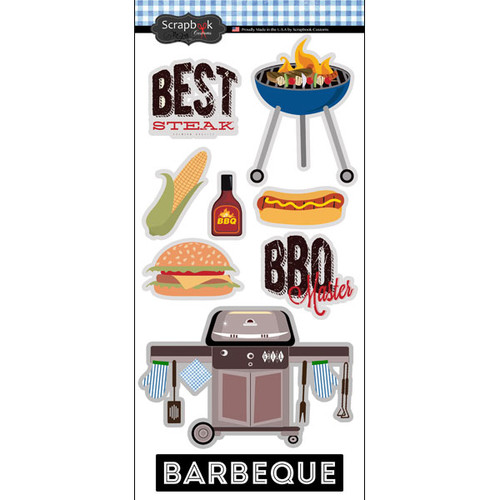 Scrapbook Customs 6x12 Sticker: Barbeque