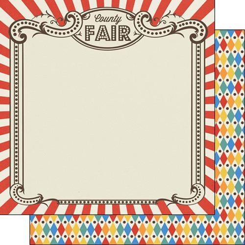 Scrapbook Customs 12x12 Summer Themed Paper: County Fair