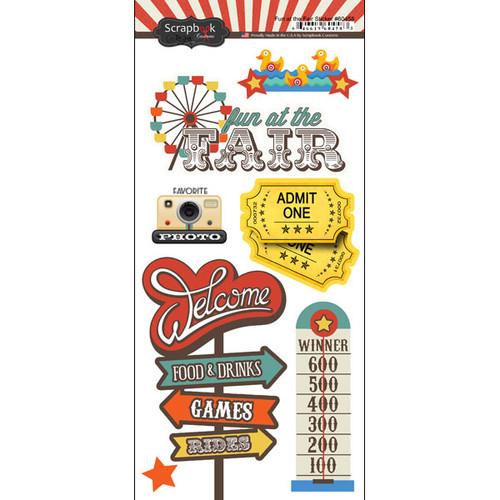 Scrapbook Customs 6x12 Sticker: Fun at the Fair