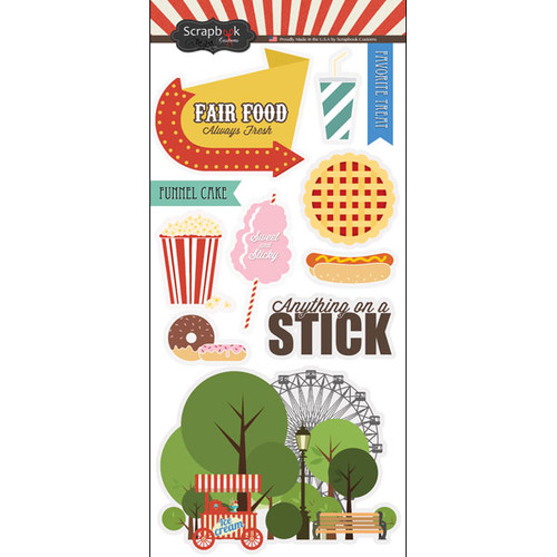 Scrapbook Customs 6x12 Sticker: Fair Food