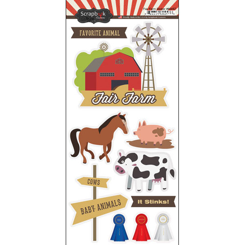Scrapbook Customs 6x12 Sticker: Fair Farm