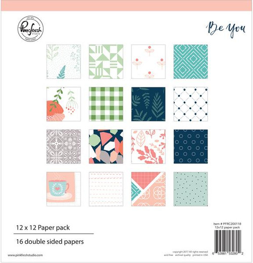 Pinkfresh Studio 12x12 Paper Pack: Be You