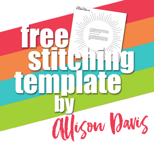 We Create 2020 Free Stitching Template by Allison Davis: Sunburst