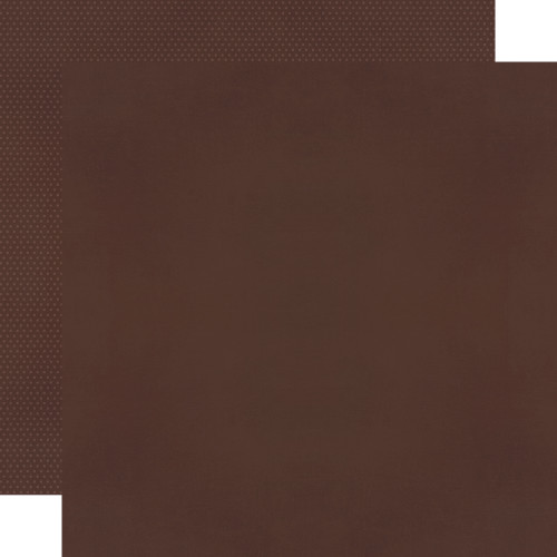 Color Vibe 12x12 Textured Cardstock: Espresso