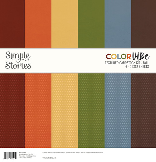 Color Vibe 12x12 Textured Cardstock Kit: Fall