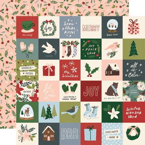 Winter Cottage 12x12 Paper: 2x2 Elements