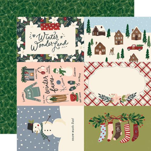 Winter Cottage 12x12 Paper: 4x6 Elements