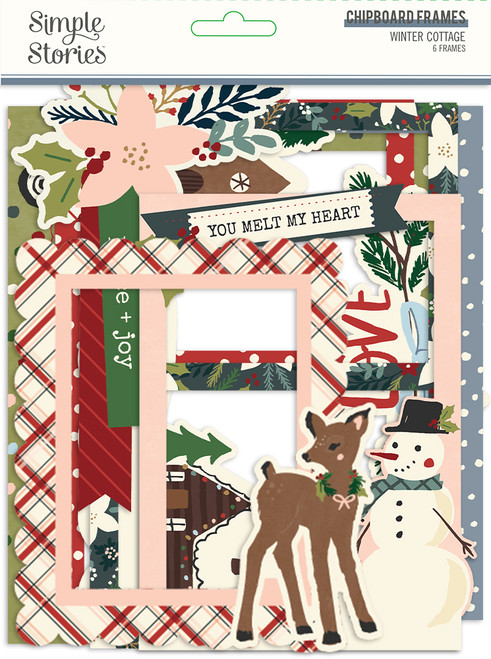 Winter Cottage Chipboard Frames