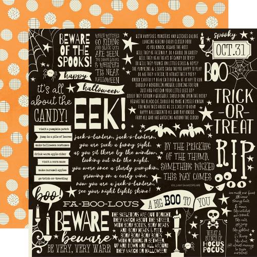 Boo Crew 12x12 Paper: Cast a Spell