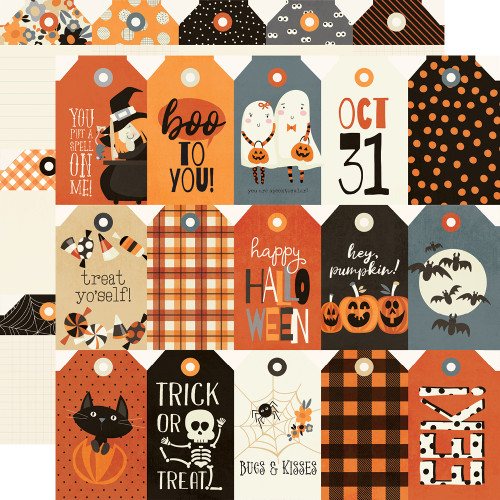 Boo Crew 12x12 Paper: Tags