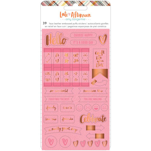 Amy Tangerine Late Afternoon Embossed Puffy Stickers