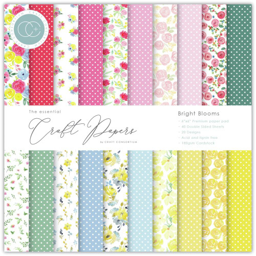 Craft Consortium 6x6 Paper Pad: Bright Blooms
