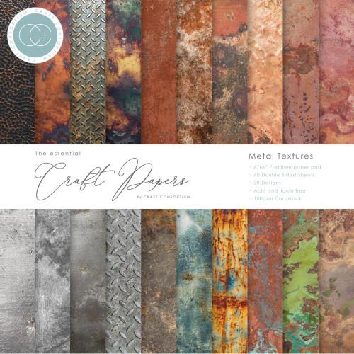 Craft Consortium 6x6 Paper Pad: Metal Textures