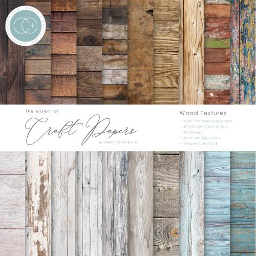 Craft Consortium 6x6 Paper Pad: Wood Textures