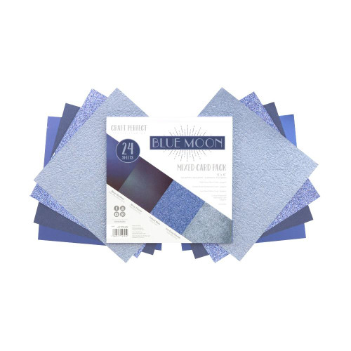 Craft Perfect 6x6 Mixed Card Pack: Blue Moon