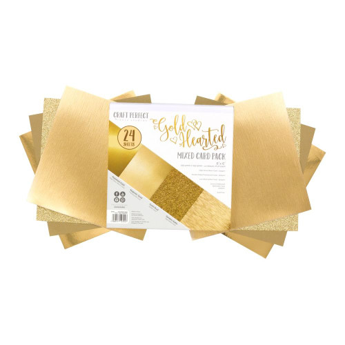 Craft Perfect 6x6 Mixed Card Pack: Gold Hearted