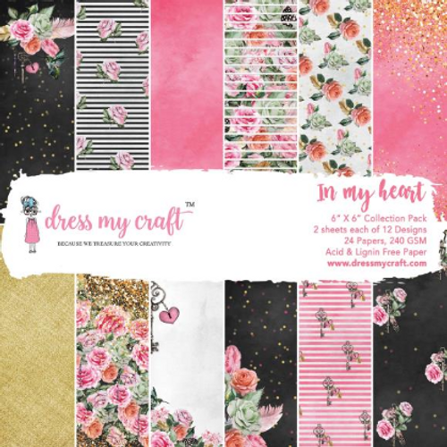 Dress My Craft 6x6 Paper Pad: In My Heart