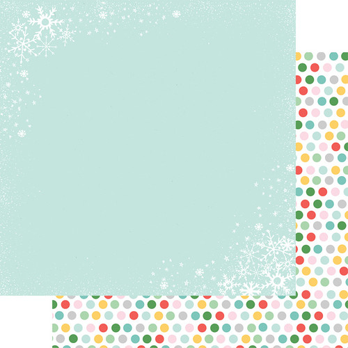 Fancy Pants Wishmas 12x12 Paper: Christmas Flurries