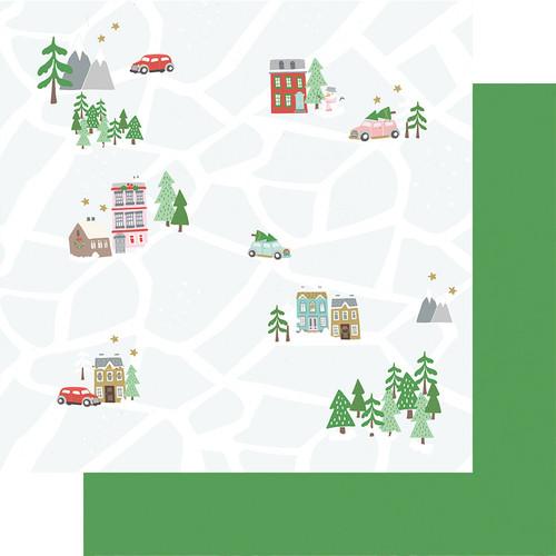 Fancy Pants Wishmas 12x12 Paper: Christmas Map