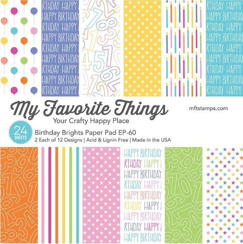 My Favorite Things 6x6 Paper Pad: Birthday Brights