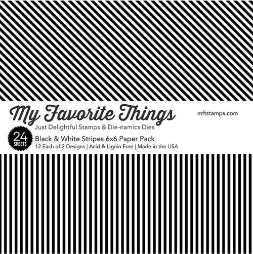 My Favorite Things 6x6 Paper Pad: Black & White Stripes