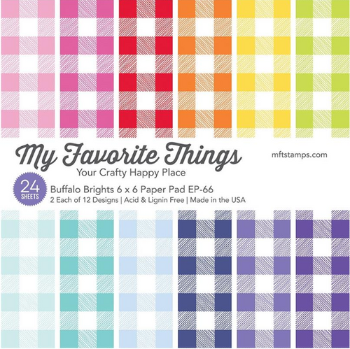 My Favorite Things 6x6 Paper Pad: Buffalo Brights
