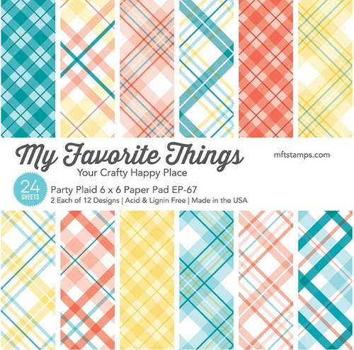 My Favorite Things 6x6 Paper Pad: Party Plaid